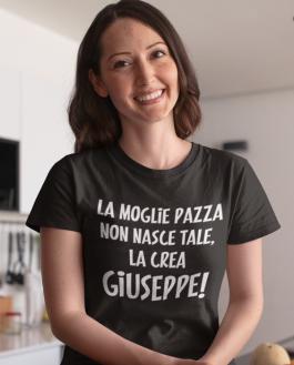 Maglietta divertente moglie pazza