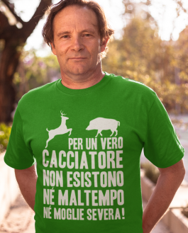 Maglietta divertente vero cacciatore!